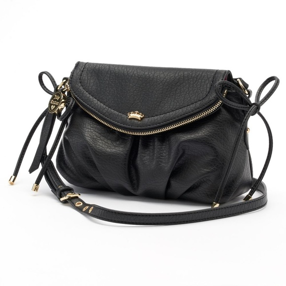 Juicy Couture Handbags - Juicy Couture Black Faux Leather Mini Crossbody